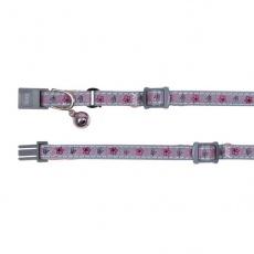 Rózsaszín csengős nyakörv, fényvisszaverő - 15 - 20 cm