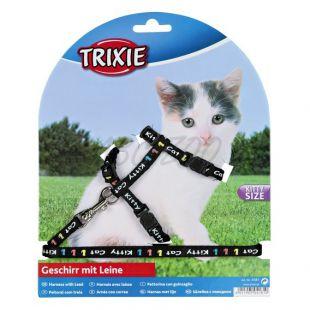 Kitty Cat macskahám és póráz, fekete