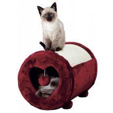 Kaparófa macskák részére, rózsaszín szív, henger