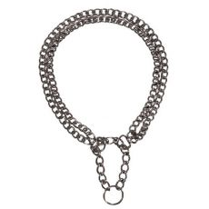Kétsoros nyakörv - króm, 45 cm / 2,5 mm