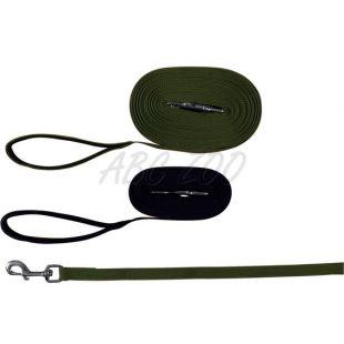Nyomkövető kutyapóráz, zöld színű - 10 m