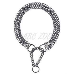 Krómozott kutyanyakörv - háromsoros lánc, 45 cm / 2,5 mm