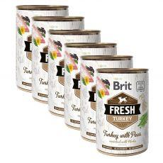Brit Fresh Turkey with Peas konzerv 6 x 400 g