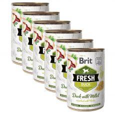 Brit Fresh Duck with Millet konzerv 6 x 400 g