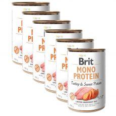 Brit Mono Protein Turkey & Sweet Potato konzerv, 6 x 400 g