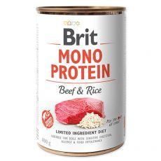 Brit Mono Protein Beef & Rice konzerv, 400 g