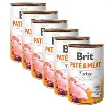 Brit Paté & Meat Turkey konzerv 6 x 400 g