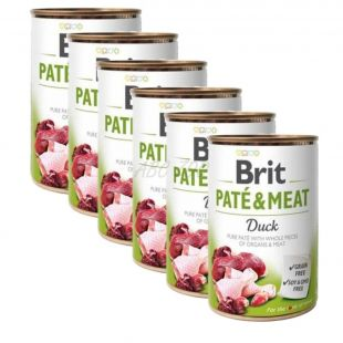 Brit Paté & Meat Kacsa konzerv 6 x 400 g