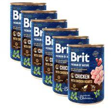 Brit prémium a Nature –től Csirke és szív konzerv 6 x 400 g