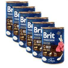 Brit prémium a Nature –től, Marha és pacal konzerv 6 x 400 g