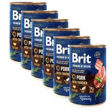 Brit prémium a Nature –től, Sertés és légcső konzerv 6 x 400 g