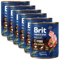 Brit prémium a Nature –től, Sertés és légcső konzerv 6 x 800 g