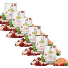 ISEGRIM Adult Prairie: Liba édesburgonyával, csipkebogyóval és gyógynövényekkel 6 x 400 g