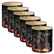 Piper Adult kutyakonzerv marhamájjal és burgonyával 6 x 800 g