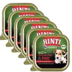 Nedves kutyaeledel RINTI Bio marha 6 x 150 g