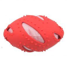 Dog Fantasy TPR Rugby labda, piros 16 cm