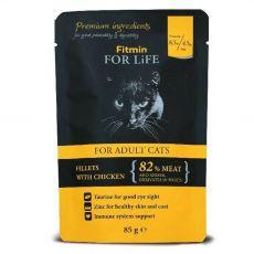 Fitmin Cat For Life Csirke zacskós eledel 85 g