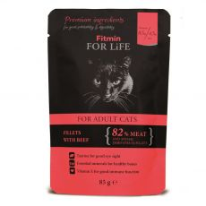 Fitmin Cat For Life Marha zacskós eledel 85 g