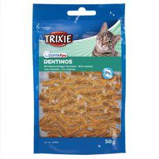 Jutalomfalatok macskáknak Dentinos - fogakra, 50 g