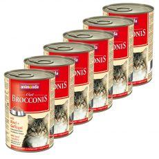 Animonda Cat BROCCONIS marha és baromfi 6 x 400 g