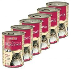 Animonda Cat BROCCONIS baromfi és szív 6 x 400 g
