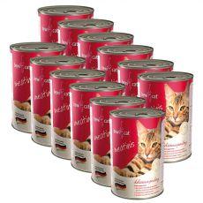 BEWI CAT Meatinis baromfihúsos, 12 x 400 g konzerv