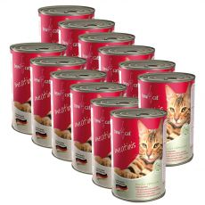 BEWI CAT Meatinis WILD 12 x 400 g konzerv
