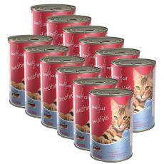 BEWI CAT Meatinis SALMON 12 x 400 g konzerv