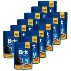 BRIT Premium Cat Salmon & Trout alutasakos eledel 12 x 100 g