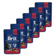 BRIT Premium Cat Beef Stew & Peas alutasakos eledel 6 x 100 g