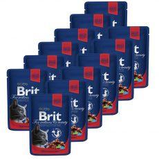 BRIT Premium Cat Beef Stew & Peas alutasakos eledel 12 x 100 g