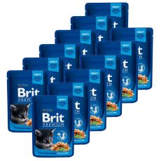 BRIT Premium Kitten Chicken Chunks alutasakos eledel 12 x 100 g