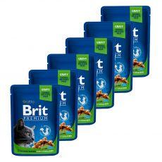 BRIT Premium Cat Chicken Slices for Sterilised alutasakos eledel 6 x 100 g
