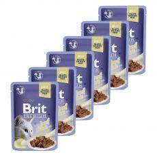 BRIT Prémium Zacskós macskaeledel, marha kocsonyában 6 x 85 g