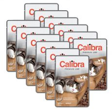 CALIBRA Cat Adult bárány és baromfi falatok szószban 12 x 100 g