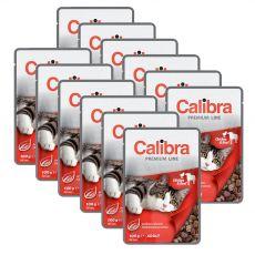 CALIBRA Cat Adult csirke és marha darabok szószban 12 x 100 g