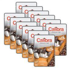 CALIBRA Cat Adult kacsa és csirke darabok szószban 12 x 100 g