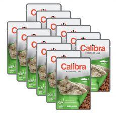 CALIBRA Cat Adult Sterilised lazac darabokkal szószban 12 x 100 g