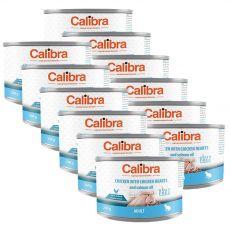 Calibra Cat Adult GF – Csirke és csirkeszív konzerv lazacolajjal 12 x 200 g