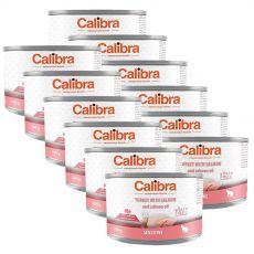 Calibra Cat Sensitive GF - Pulyka konzerv lazaccal és lazacolajjal 12 x 200 g