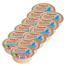 Fitmin Cat Purity pulyka tálcás eledel 12 x 85 g