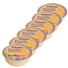 Fitmin Cat Purity csirke tálcás eledel 6 x 85 g