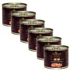 NUEVO CAT Adult Chicken & Shrimps konzerv 6 x 200 g
