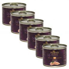 NUEVO CAT Adult Chicken konzerv 6 x 200 g, 5 + 1 GRÁTISZ