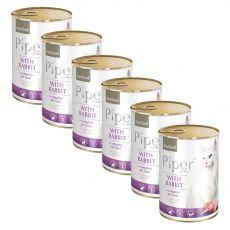 Piper Cat Sterilised konzerv nyúlhússal 6 x 400 g