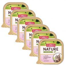 Schmusy Nature pulyka és nyúl tálcás eledel 6 x 100 g