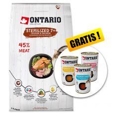 Ontario Cat Sterilised 7+ 6,5 kg