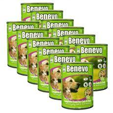 Benevo Duo teljes értékű eledel macskák és kutyák számára 12 x 369 g