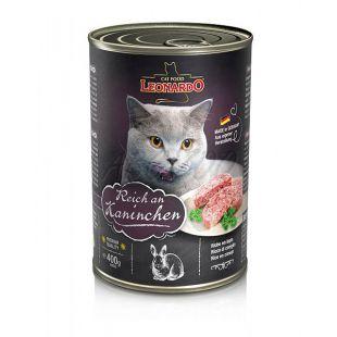 Konzerv macska számára Leonardo - Nyúl 400 g