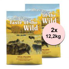 TASTE OF THE WILD High Prairie Canine 2 x 12,2 kg